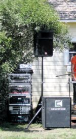 Amp racks and speaker stack